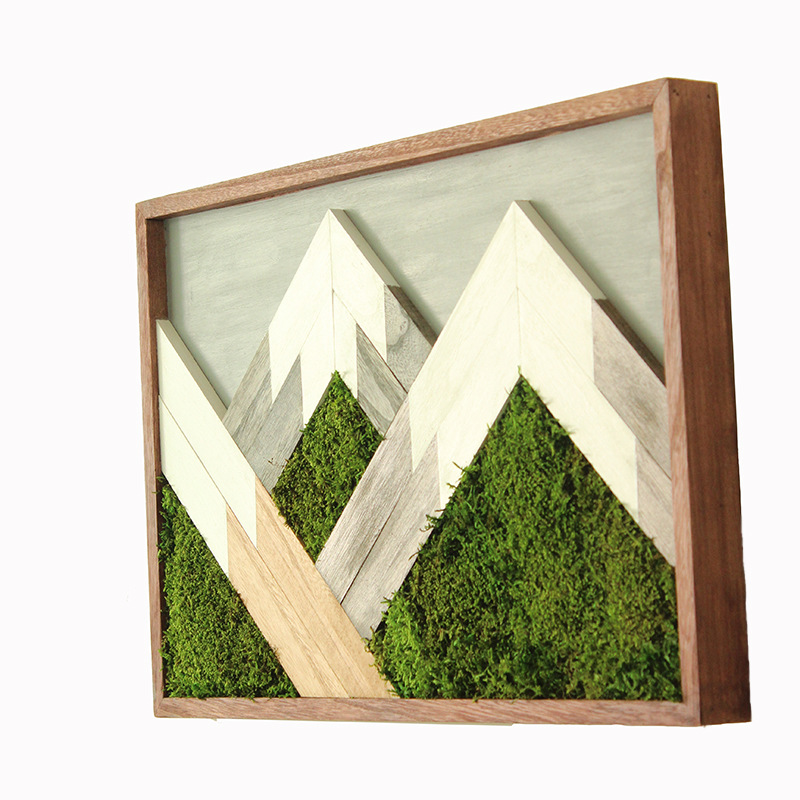 Preserved moss wall frame